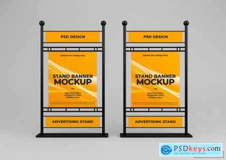 Advertising stand banner mockup