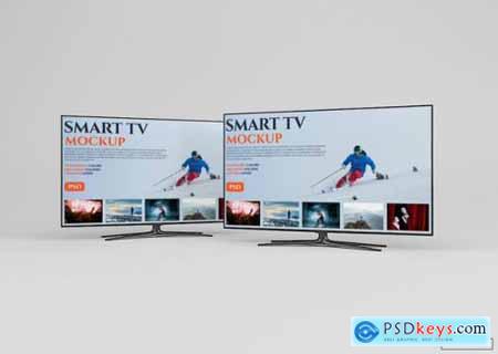 Modern smart tv mockup