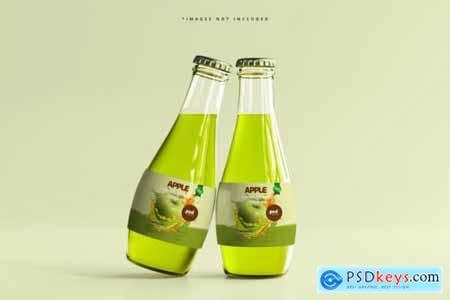 Glass beverage bottles mockup 2