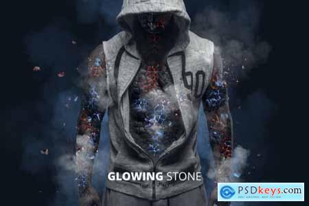 Glowing Stone Photoshop Action
