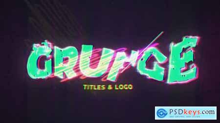 Grunge Glitch Intro & Logo 31445517
