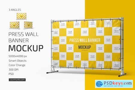 Press Wall Banner Mockup Set 6212508