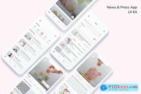 News & Press App UI Kit