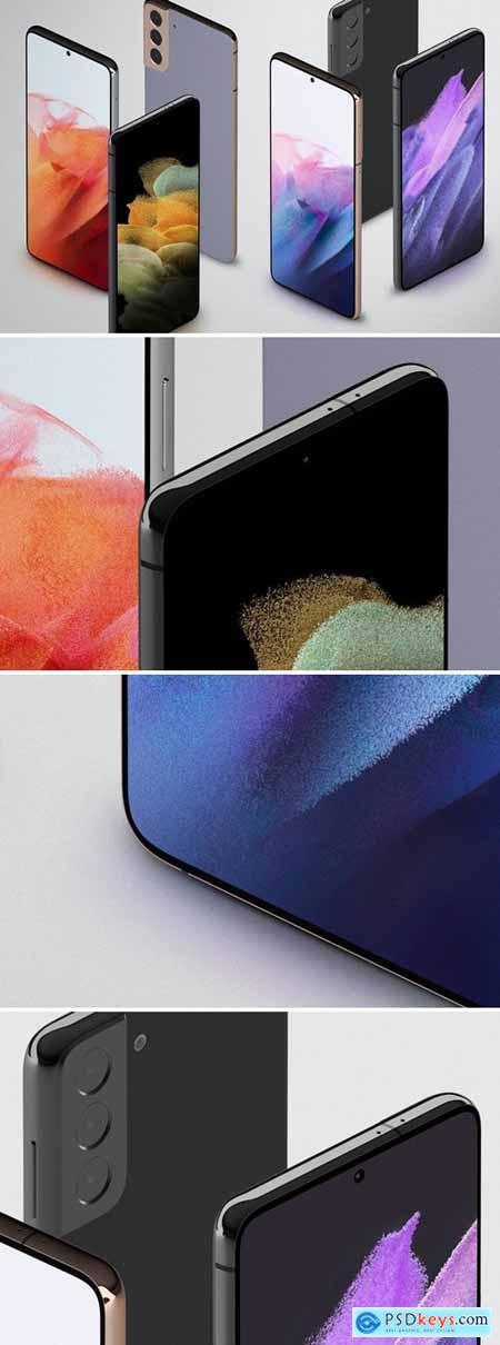 Samsung Galaxy S21 isometric Mockup
