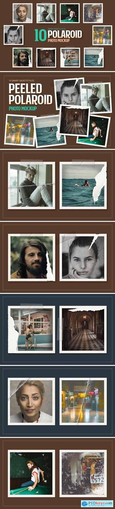 Peeled Polaroid Photo Frame Mockup