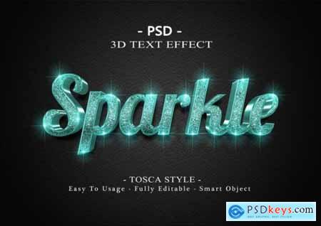 3d sparkle text effect