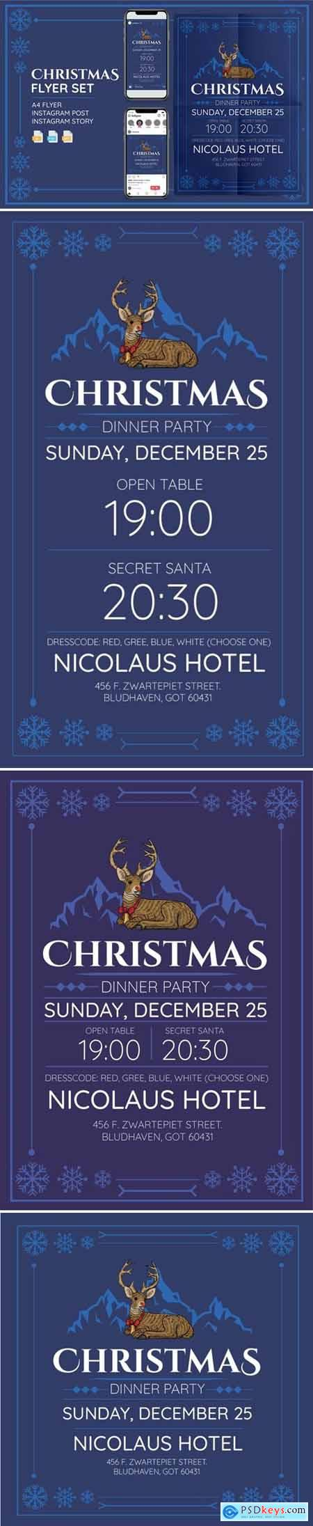 Christmass Flyer Set - Print and Social Media Pack LEFYU94