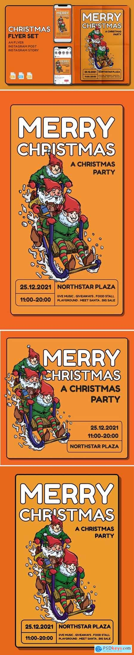 Christmass Flyer Set - Print and Social Media Pack FHE3JSS