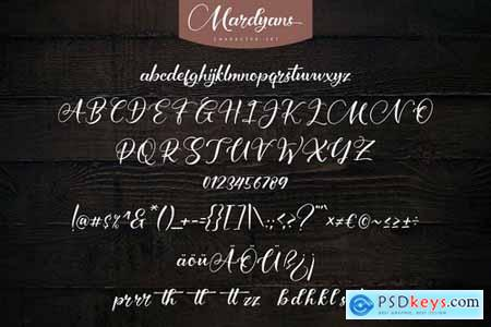 Mardyans Unique Naturaly Handwritten Font