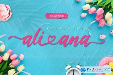 Ali Ana - Heart Lovely Font