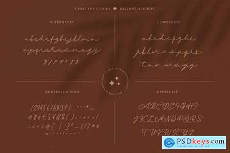 Ballantik Modern Monoline Script