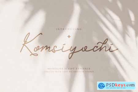 Komsiyochi Monoline Script