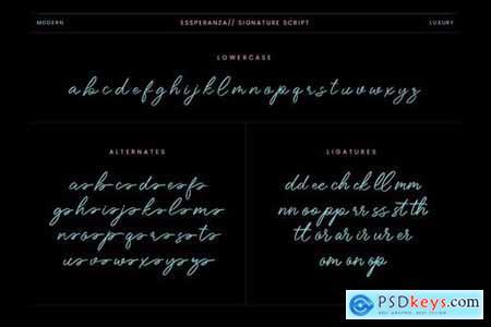 Essperanza Stylish Signature Script