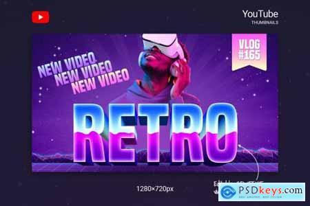 80s Retro Youtube Thumbnails