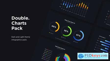 Double - Infographics Charts Pack 32667091