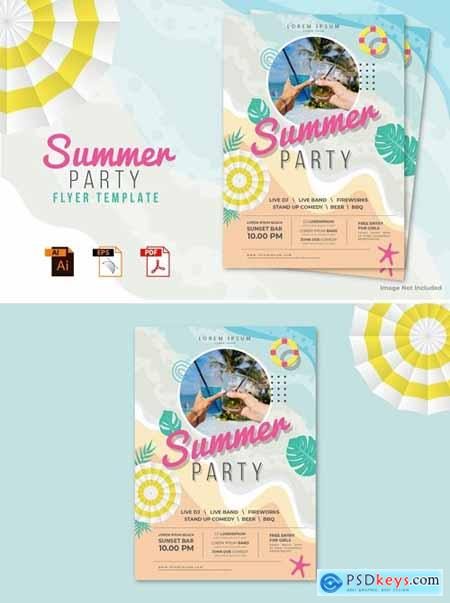 Summer Party Flyer Template Vol.01