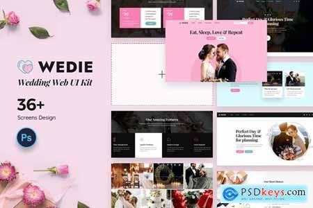 Wedie Wedding Web UI Kit