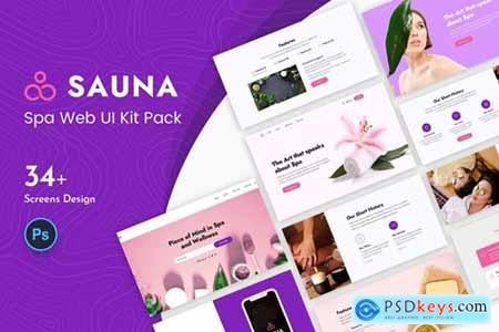 Sauna Spa Web UI Kit