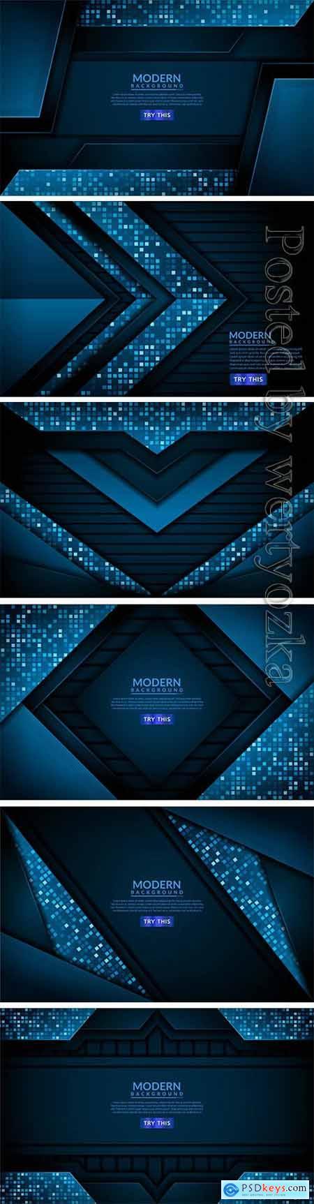 Modern tech blue vector background