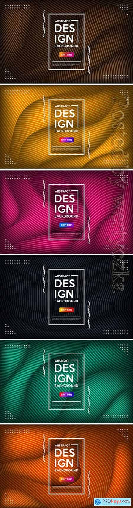 Modern abstract wave geometric colorful vector background