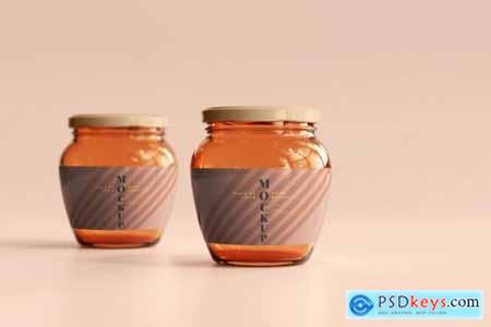 Marmalade glass jars mockup 4