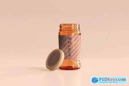 Marmalade glass jars mockup 6