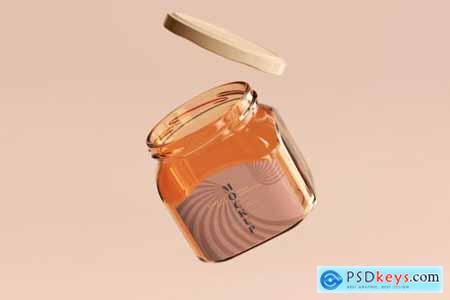 Marmalade glass jars mockup 5