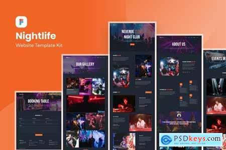 Nightlife Nightclub Website Template