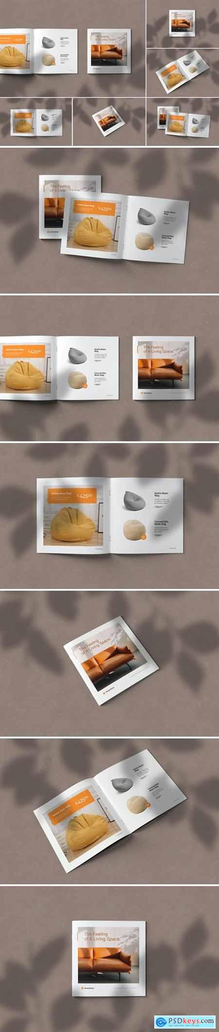 Square Brochure Catalog Mockups