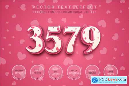 Pretty Love - editable text effect, font style