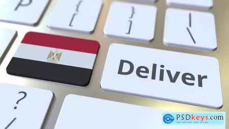 Deliver Text and Flag of Egypt on the Computer Keyboard 32696484