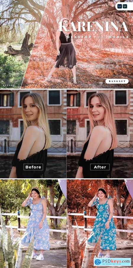 Karenina Desktop and Mobile Lightroom Preset