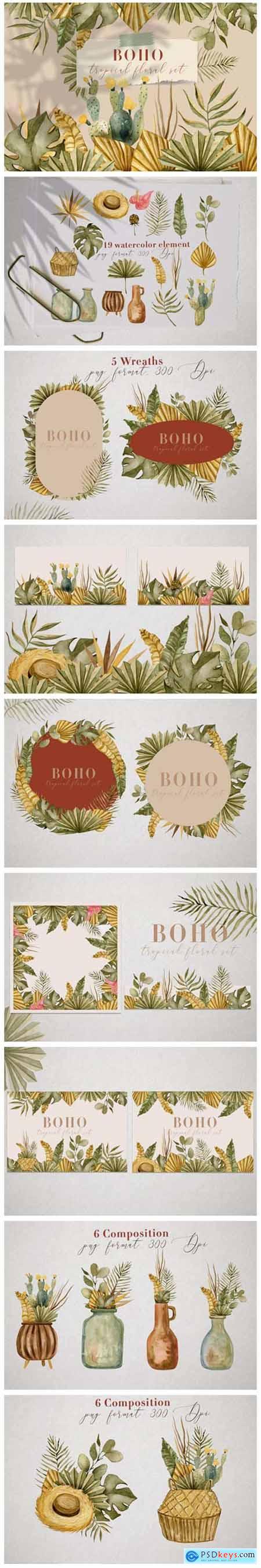 BOHO Tropical Floral Set 9838310