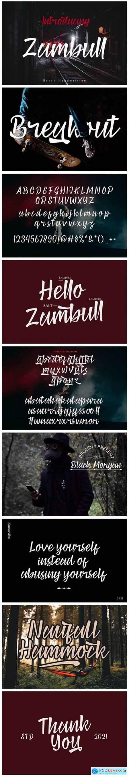 Zambull Font