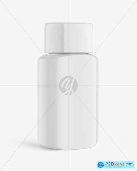 Glossy Cosmetic Bottle Mockup 84878