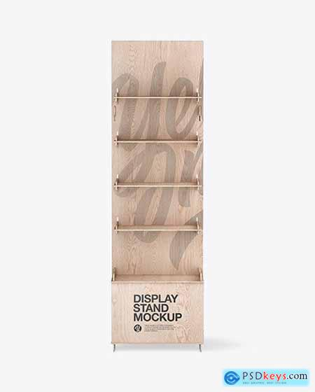 Wooden Display Stand Mockup 84877