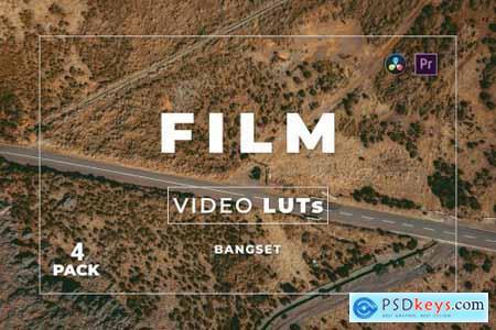 Bangset Film Pack 4 Video LUTs