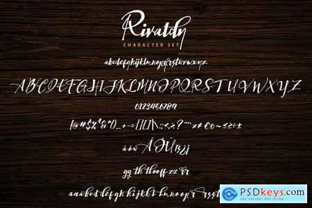 Rivaldy A Handwritten Font