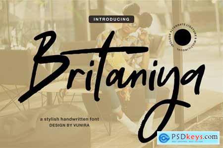 Britaniya A Stylish Handwritten Font