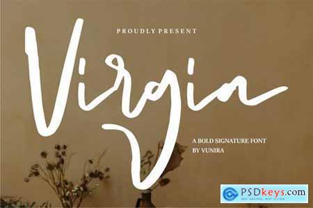 Virgia A Bold Signature Font