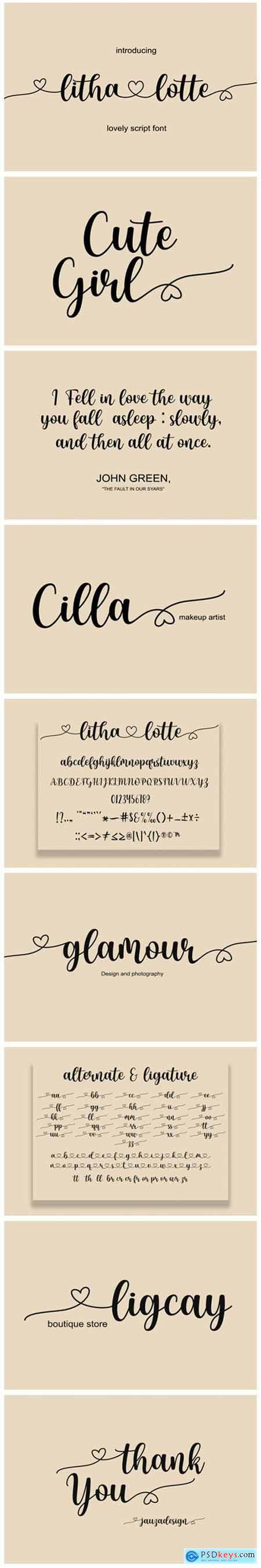 Litha Lotte Font