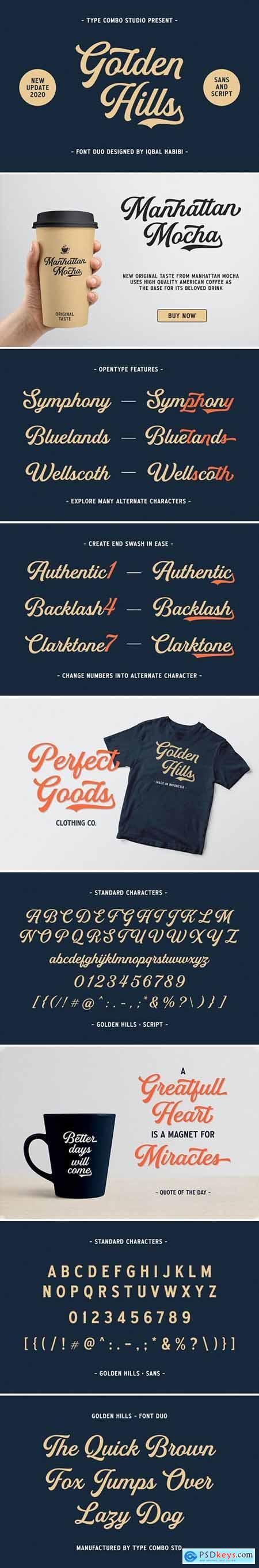 CreativeMarket - Golden Hills - Font Duo 4005026