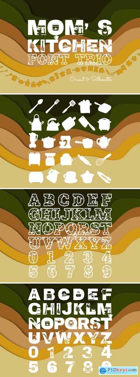 Moms Kitchen Font Trio Font