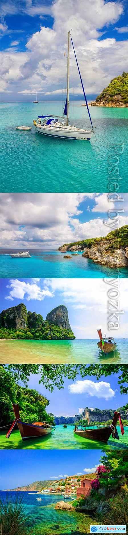 Landscapes coast stock photos