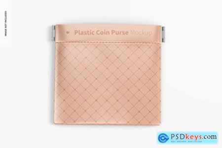 Plastic coin purse mockup