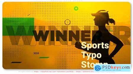 Sports Typo Stomp 32806707