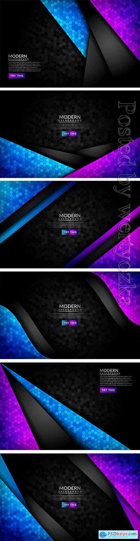 Abstract 3d dark background with purple and blue gradient