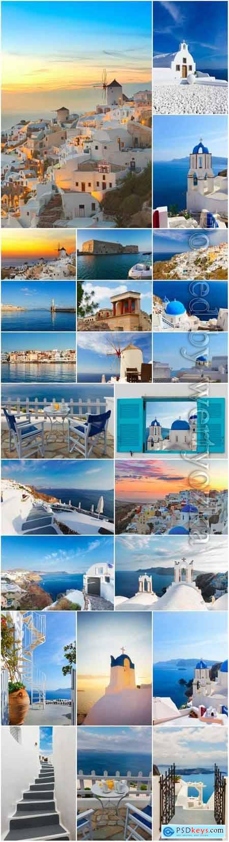Beautiful architecture of Greece stock photo