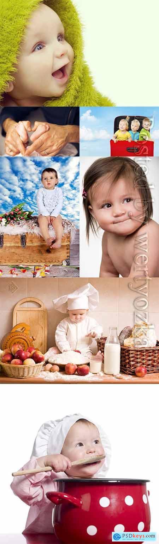 Little children, newborn stock photo