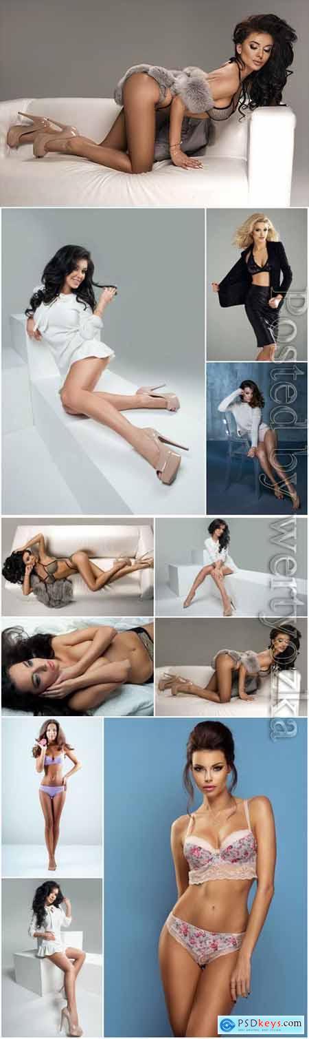 Stylish sexy girls stock photo